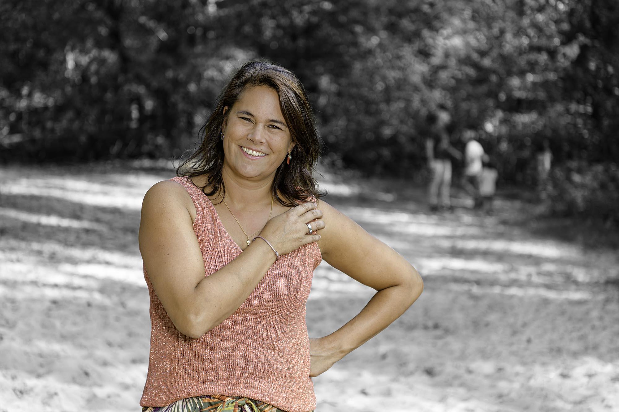 Gezin Martine Scholten in het bos van Den Dolder